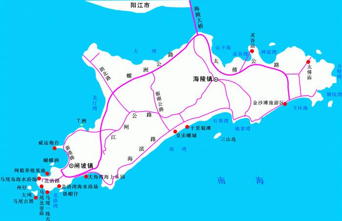(2)珠三角基本上每个城市都有车直达阳江市总站,总站下车直接买阳江图片