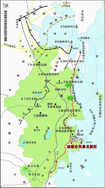 线路:琅琊台风景区——大珠山风景区——灵山岛风景