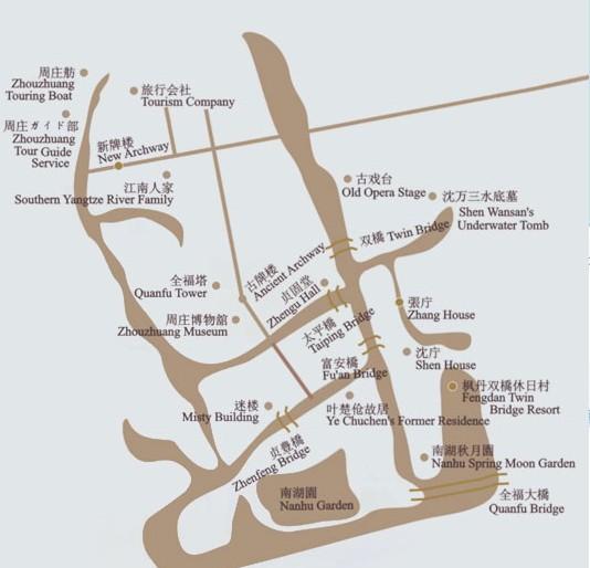苏州周庄地图