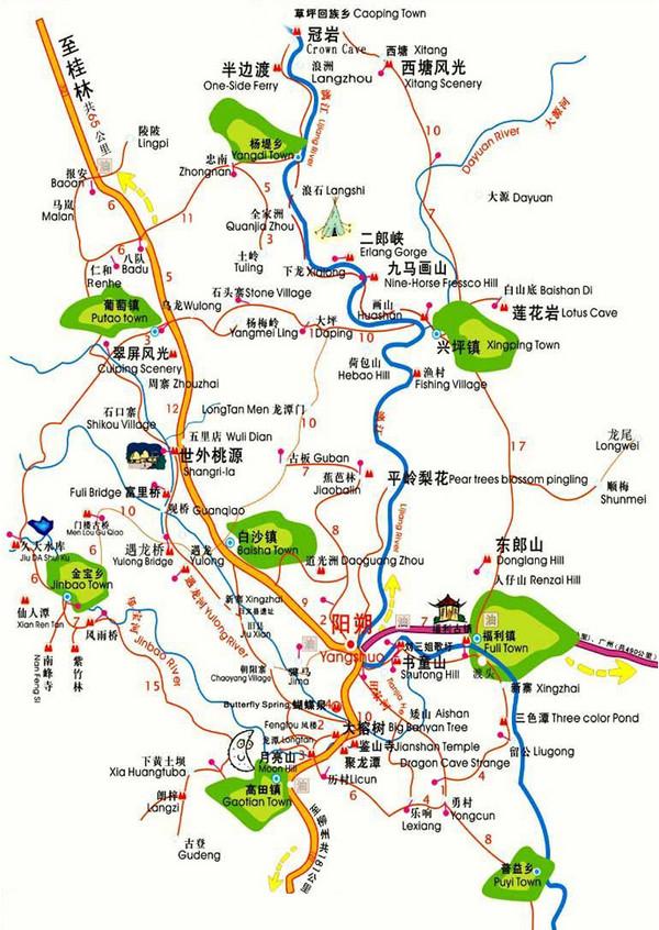 涠洲岛 景区地图