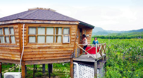 米亚罗农庄位于 杭州 昌化云浪村口(临柳溪江果园).